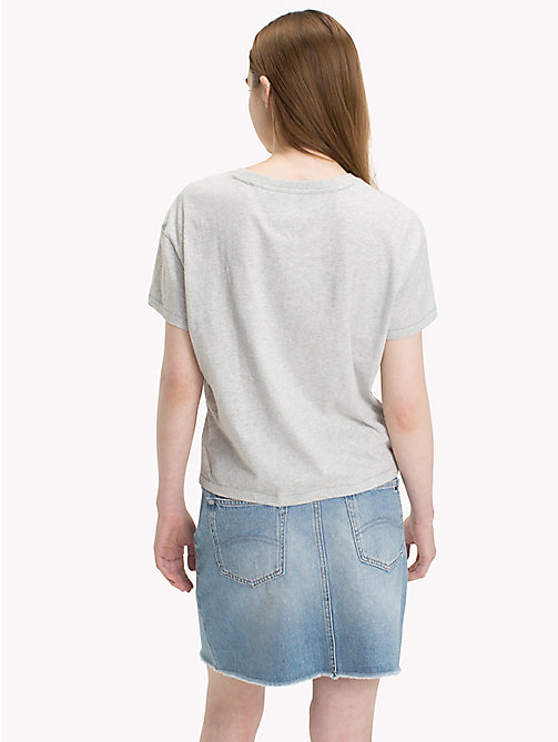 TOMMY JEANS T-Shirt mit Tommy-Logo - LIGHT GREY HTR BC03 - TOMMY JEANS Tops - main image 1