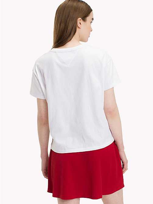 TOMMY JEANS T-Shirt mit Tommy-Logo - BRIGHT WHITE - TOMMY JEANS Tops - main image 1
