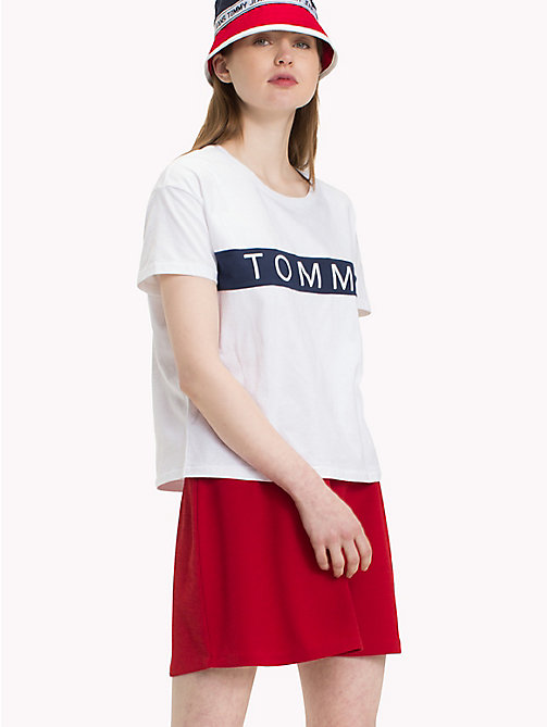 TOMMY JEANS Tommy Logo T-Shirt - BRIGHT WHITE - TOMMY JEANS Tops - main image