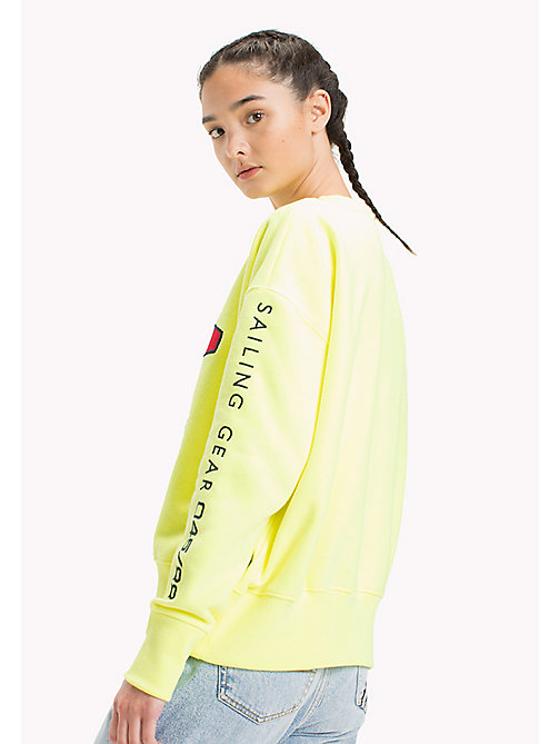 TOMMY JEANS 90s Sailing Sweatshirt - SAFETY YELLOW - TOMMY JEANS Sweatshirts & Hoodies - detail image 1