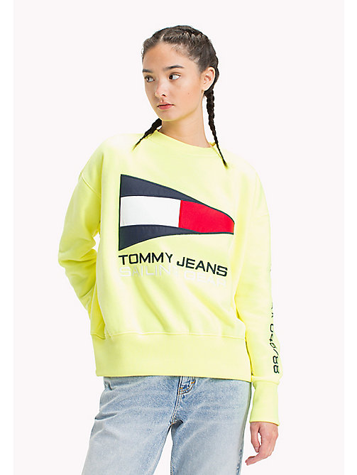 TOMMY JEANS 90s Sailing Sweatshirt - SAFETY YELLOW - TOMMY JEANS Capsule - main image