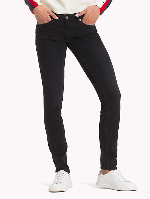TOMMY JEANS Sophie Skinny Fit Jeans - GALWAY BLACK STRETCH - TOMMY JEANS Jeans - main image