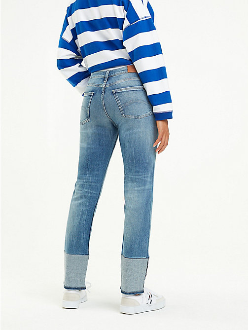 TOMMY JEANS Izzy Inside-Out Hem Jeans - NANTES MID BLUE COMF - TOMMY JEANS Slim Fit Jeans - detail image 1
