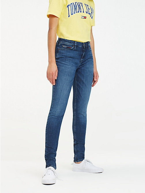 TOMMY JEANS Nora Skinny Fit Jeans - HORIZON DARK BLUE STRETCH - TOMMY JEANS Jeans - main image