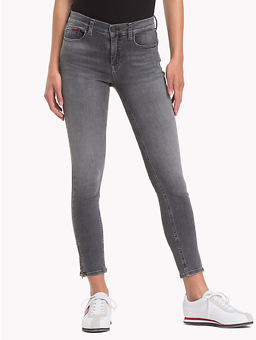 TOMMY JEANS Nora Zip Hem Skinny Fit Jeans - STORM GREY STRETCH - TOMMY JEANS Clothing - main image