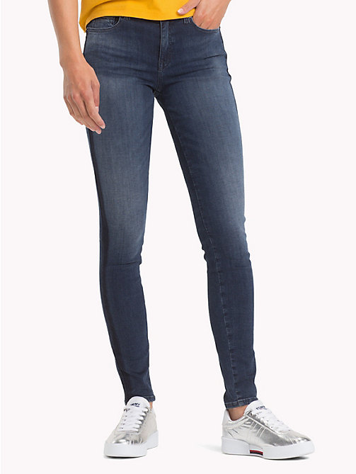 TOMMY JEANS Nora Skinny Fit Jeans - NEDDLE DARK BLUE STRETCH - TOMMY JEANS Jeans - main image