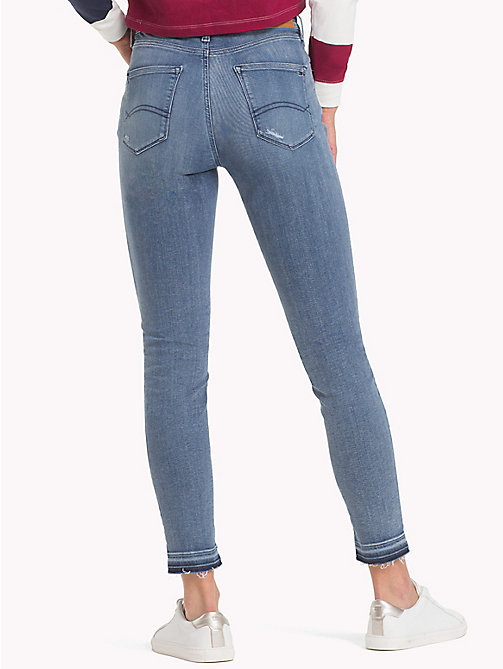TOMMY JEANS Nora Distressed Skinny Fit Jeans - DAZZLE LIGHT BLUE STRETCH DESTR - TOMMY JEANS Skinny Jeans - detail image 1