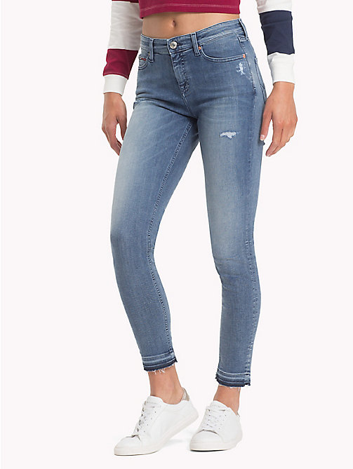 TOMMY JEANS Nora distressed skinny fit jeans - DAZZLE LIGHT BLUE STRETCH DESTR - TOMMY JEANS Skinny Jeans - main image