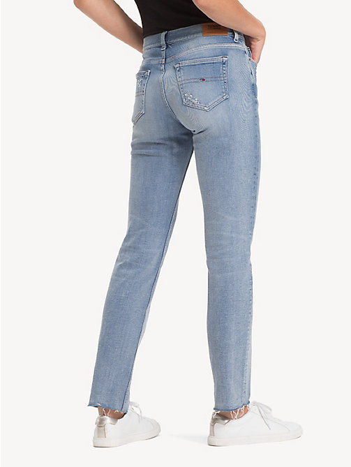 TOMMY JEANS TJ 1985 Straight Fit Jeans - FLASH LIGHT BLUE COMF DESTR - TOMMY JEANS Jeans - detail image 1