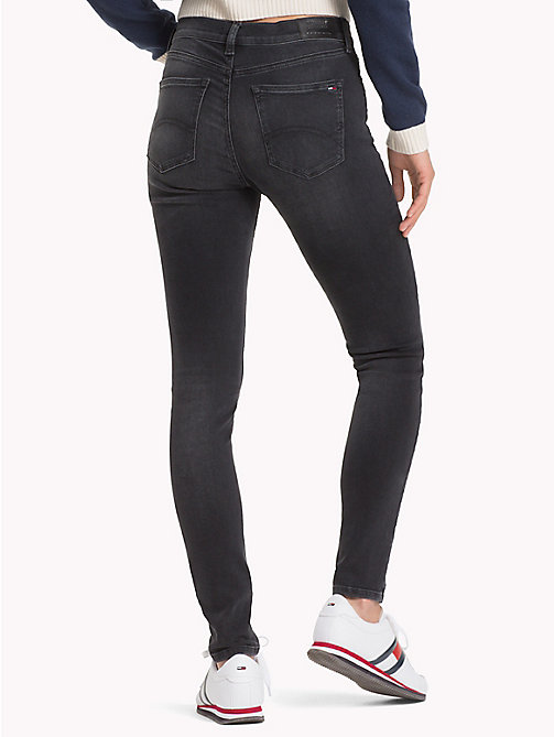 TOMMY JEANS Nora Skinny Fit Jeans - DYNAMIC COAL BLACK STR - TOMMY JEANS Jeans - detail image 1