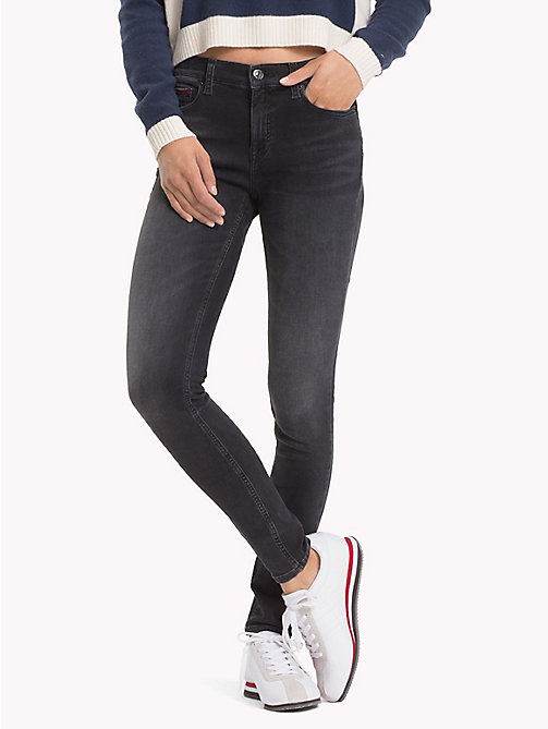 TOMMY JEANS Nora Skinny Fit Jeans - DYNAMIC COAL BLACK STR - TOMMY JEANS Jeans - main image
