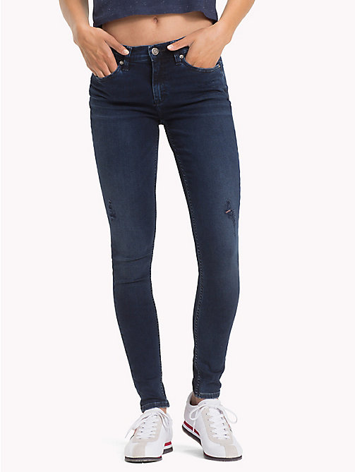 TOMMY JEANS Nora Distressed Skinny Fit Jeans - DYNAMIC SEA DARK BLUE STR - TOMMY JEANS Jeans - main image