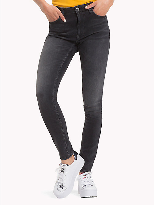 TOMMY JEANS Santana Skinny Fit Jeans - DYNAMIC COAL BLACK STR - TOMMY JEANS Jeans - main image