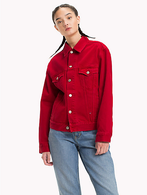 TOMMY JEANS 90s Coloured Denim Jacket - BARBADOS CHERRY - TOMMY JEANS TOMMY JEANS Capsule - main image