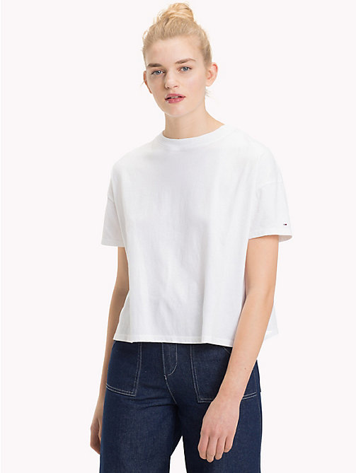TOMMY JEANS Speckle Print Top - BRIGHT WHITE - TOMMY JEANS Tops - main image