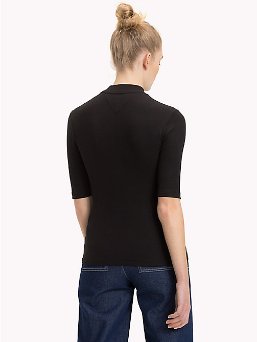 TOMMY JEANS Mock Neck Top - TOMMY BLACK - TOMMY JEANS Tops - detail image 1