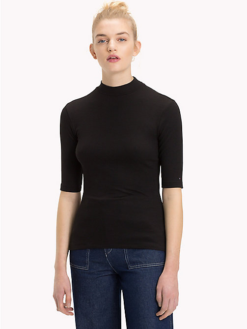 TOMMY JEANS Mock Neck Top - TOMMY BLACK - TOMMY JEANS Tops - main image