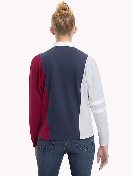 TOMMY JEANS Poloshirt in Blockfarben - BLACK IRIS/MULTI - TOMMY JEANS Tops - main image 1