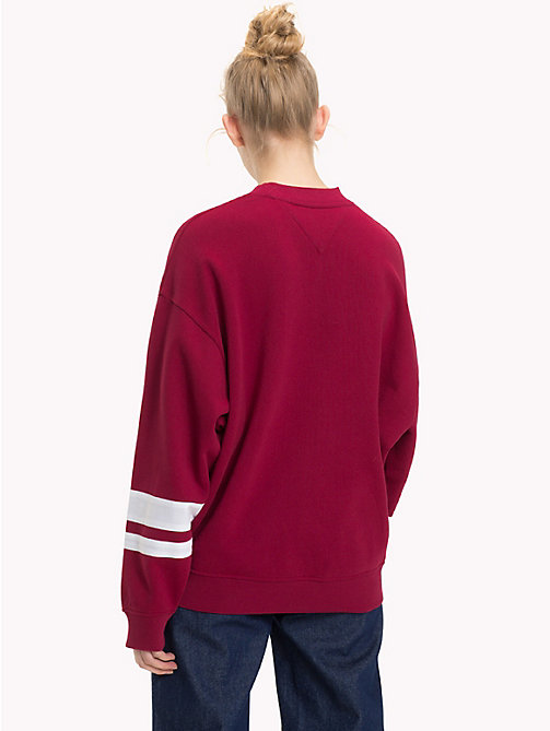 TOMMY JEANS Oversized Logo Sweatshirt - RUMBA RED - TOMMY JEANS Clothing - detail image 1