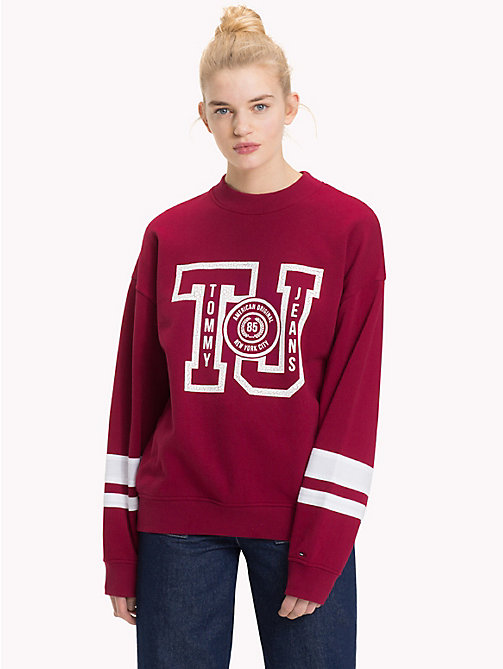 TOMMY JEANS Oversized Logo Sweatshirt - RUMBA RED - TOMMY JEANS Sweatshirts & Hoodies - main image