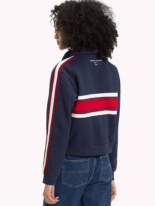 TOMMY JEANS Colour-blocked sweatshirt met rits - BLACK IRIS / MULTI - TOMMY JEANS TOMMY JEANS DAMES - detail image 1