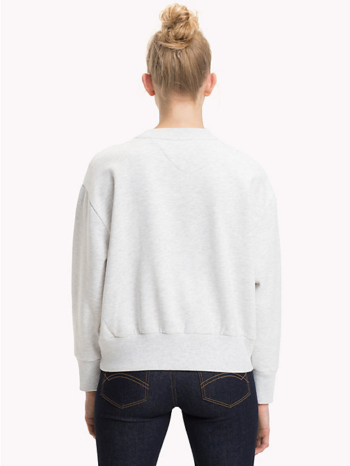 TOMMY JEANS Sweatshirt met cirkellogo - PALE GREY HEATHER - TOMMY JEANS TOMMY JEANS DAMES - detail image 1