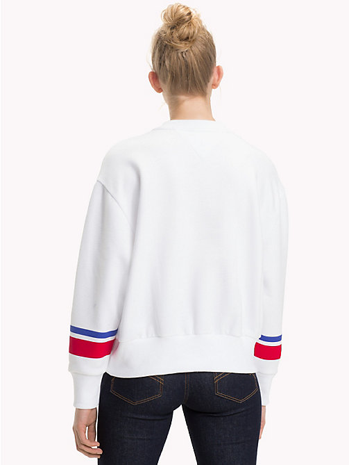 TOMMY JEANS Circle Logo Sweatshirt - BRIGHT WHITE - TOMMY JEANS TOMMY JEANS WOMEN - detail image 1