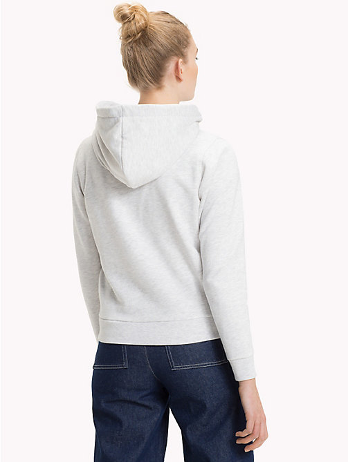 TOMMY JEANS Logo Zip-Thru Hoody - PALE GREY HEATHER - TOMMY JEANS Clothing - detail image 1