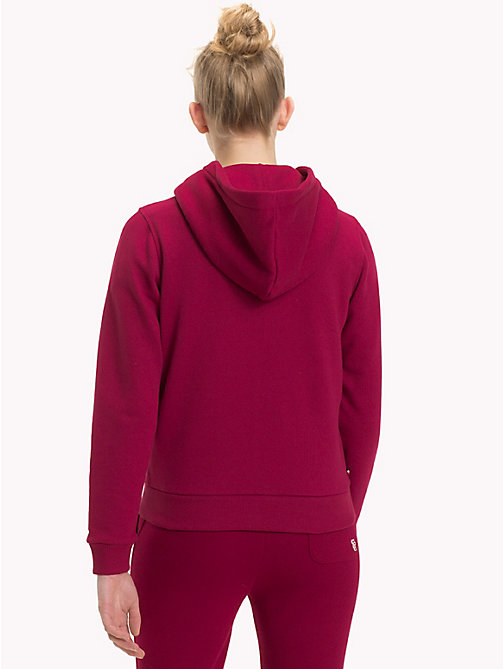 TOMMY JEANS Logo Zip-Thru Hoody - RUMBA RED - TOMMY JEANS Sweatshirts & Hoodies - detail image 1
