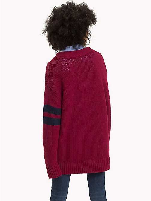 TOMMY JEANS Oversized Monogram Jumper - RUMBA RED - TOMMY JEANS What to wear - detail image 1