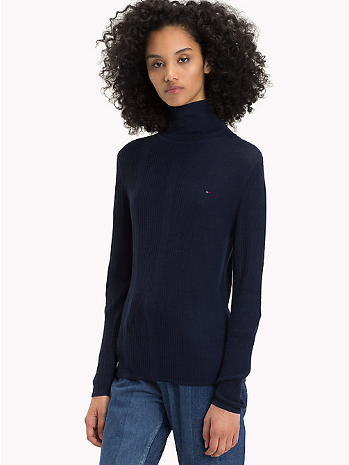 TOMMY JEANS Pure Wool Turtleneck Jumper - BLACK IRIS - TOMMY JEANS TOMMY JEANS WOMEN - main image