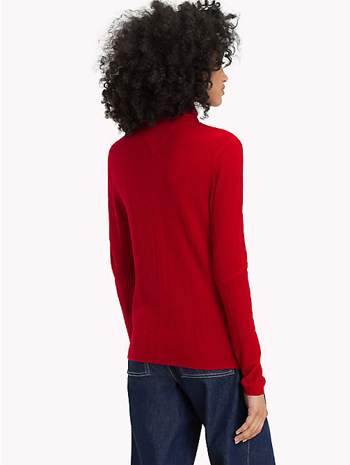 TOMMY JEANS Pure Wool Turtleneck Jumper - SAMBA - TOMMY JEANS Knitwear - detail image 1