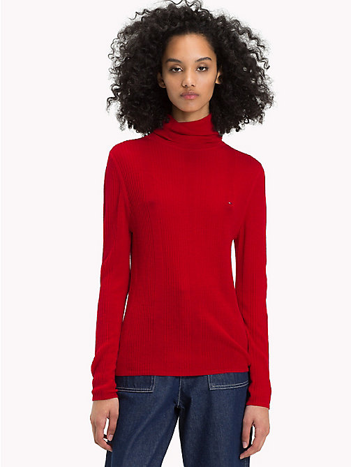 TOMMY JEANS Pure Wool Turtleneck Jumper - SAMBA - TOMMY JEANS Sweatshirts & Knitwear - main image