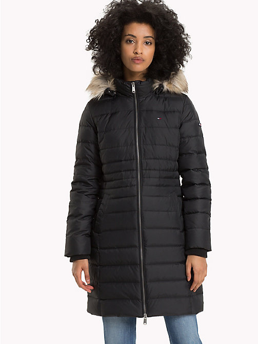 TOMMY JEANS Faux Fur Hood Puffer Coat - TOMMY BLACK - TOMMY JEANS Sustainable Evolution - main image