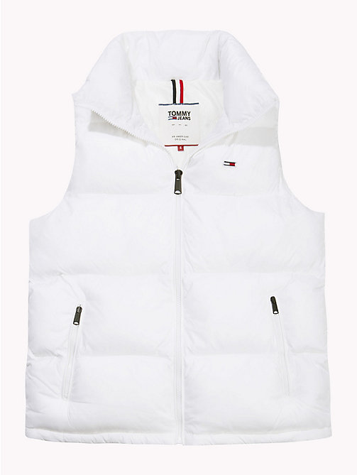 TOMMY JEANS Tommy Classics Padded Zip-Thru Gilet - BRIGHT WHITE - TOMMY JEANS Coats & Jackets - detail image 1