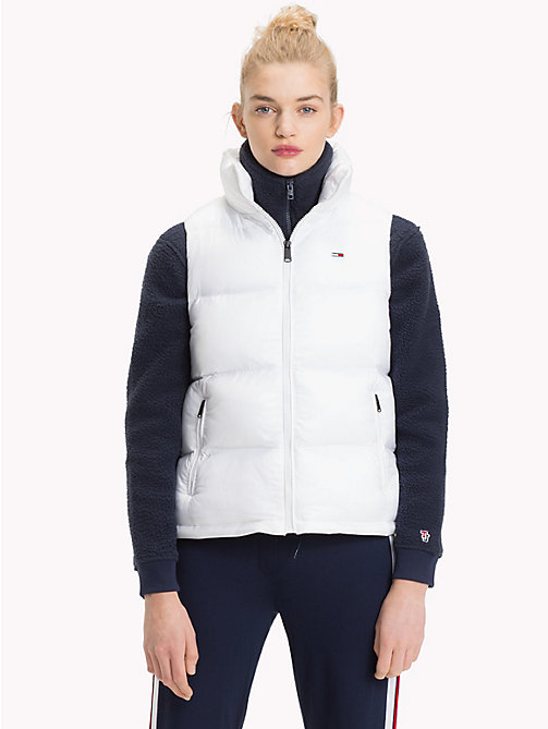 TOMMY JEANS Tommy Classics Padded Zip-Thru Gilet - BRIGHT WHITE - TOMMY JEANS Coats & Jackets - main image