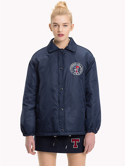 TOMMY JEANS Padded Coach Jacket - BLACK IRIS - TOMMY JEANS Coats & Jackets - main image