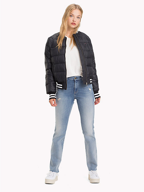 TOMMY JEANS Stripe Cuff Puffer Bomber Jacket - TOMMY BLACK - TOMMY JEANS Coats & Jackets - detail image 1