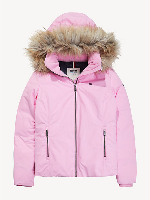 TOMMY JEANS Hooded Down Jacket - LILAC CHIFFON - TOMMY JEANS Sustainable Evolution - detail image 1
