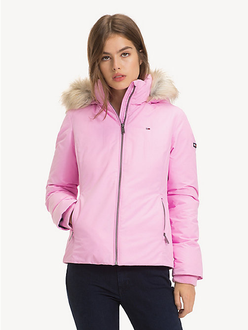 TOMMY JEANS Hooded Down Jacket - LILAC CHIFFON - TOMMY JEANS Sustainable Evolution - main image