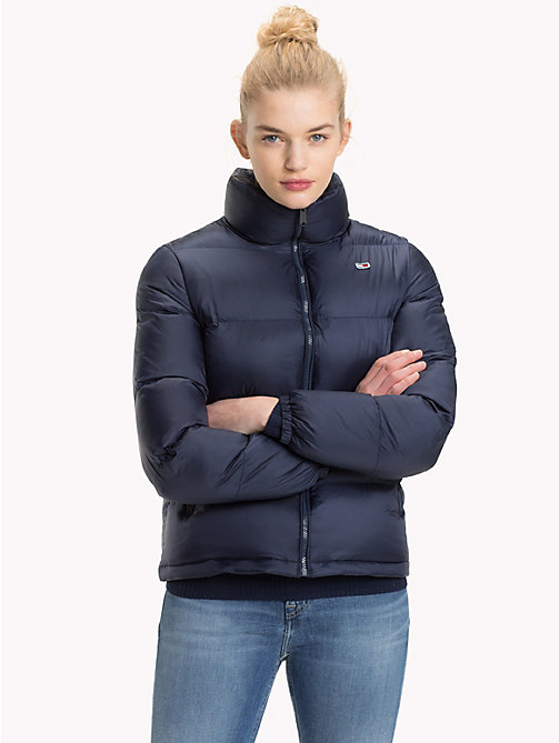 TOMMY JEANS Tommy Classics Padded Zip-Thru Jacket - BLACK IRIS - TOMMY JEANS Coats & Jackets - main image