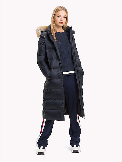 TOMMY JEANS Long Padded Hooded Coat - TOMMY BLACK - TOMMY JEANS Coats & Jackets - detail image 1