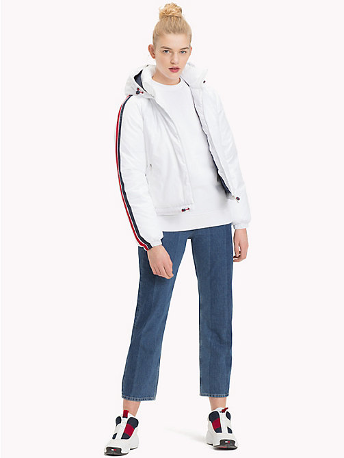 TOMMY JEANS Padded Signature Tape Jacket - BRIGHT WHITE - TOMMY JEANS Coats & Jackets - detail image 1