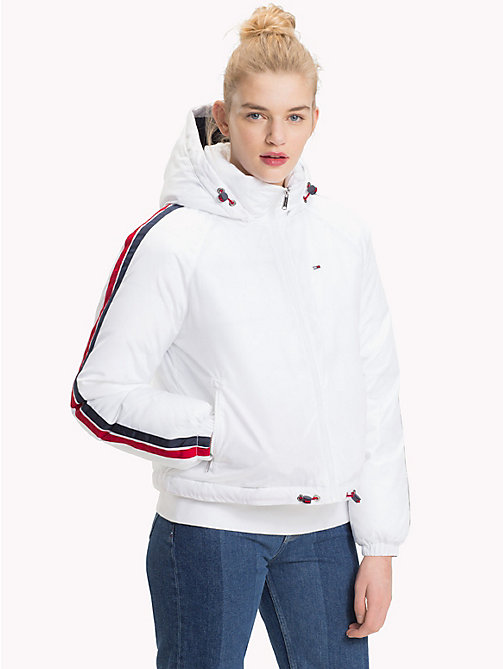 TOMMY JEANS Padded Signature Tape Jacket - BRIGHT WHITE - TOMMY JEANS Coats & Jackets - main image