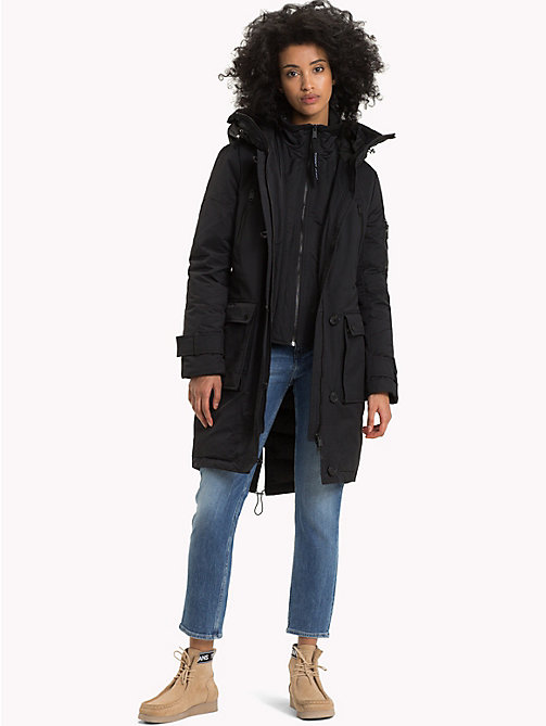 TOMMY JEANS Down Parka Jacket - TOMMY BLACK - TOMMY JEANS Coats & Jackets - detail image 1