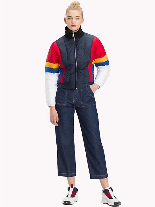 TOMMY JEANS Colour Blocked Puffer Jacket - BLACK IRIS / MULTI - TOMMY JEANS Coats & Jackets - detail image 1