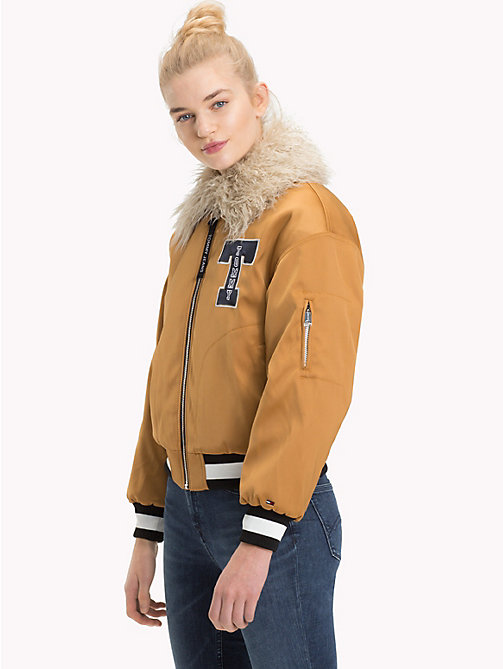 TOMMY JEANS Satin Coach Jacket - BONE BROWN - TOMMY JEANS Coats & Jackets - main image
