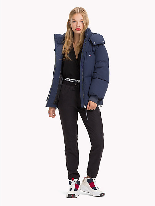 TOMMY JEANS Oversized Puffer Jacket - BLACK IRIS - TOMMY JEANS Coats & Jackets - detail image 1