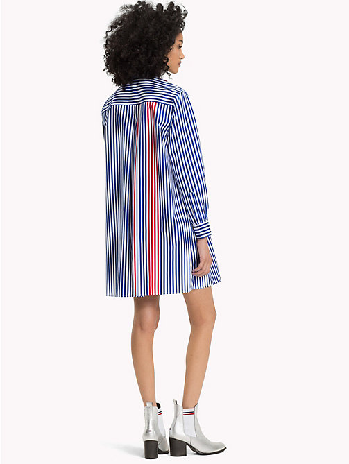 TOMMY JEANS All-Over Stripe Shirt Dress - SURF THE WEB / MULTI - TOMMY JEANS Mini - detail image 1