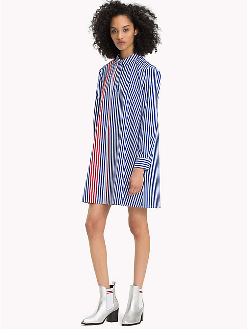 TOMMY JEANS All-Over Stripe Shirt Dress - SURF THE WEB / MULTI - TOMMY JEANS Shirt Dresses - main image